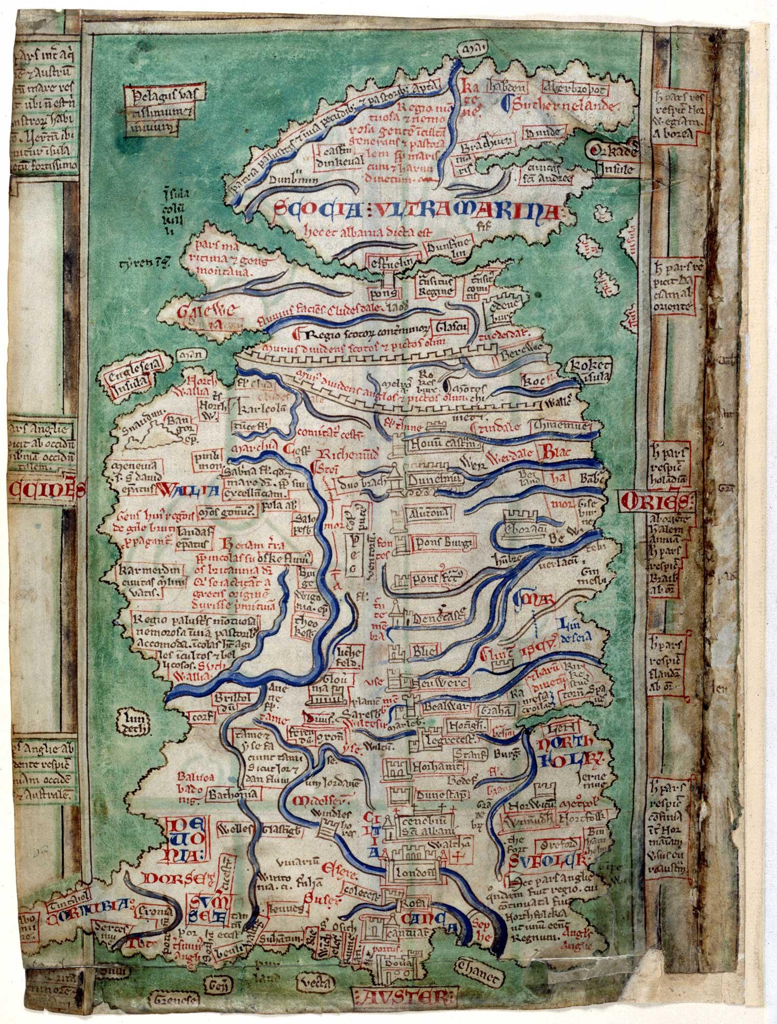 Claudius map of Britain